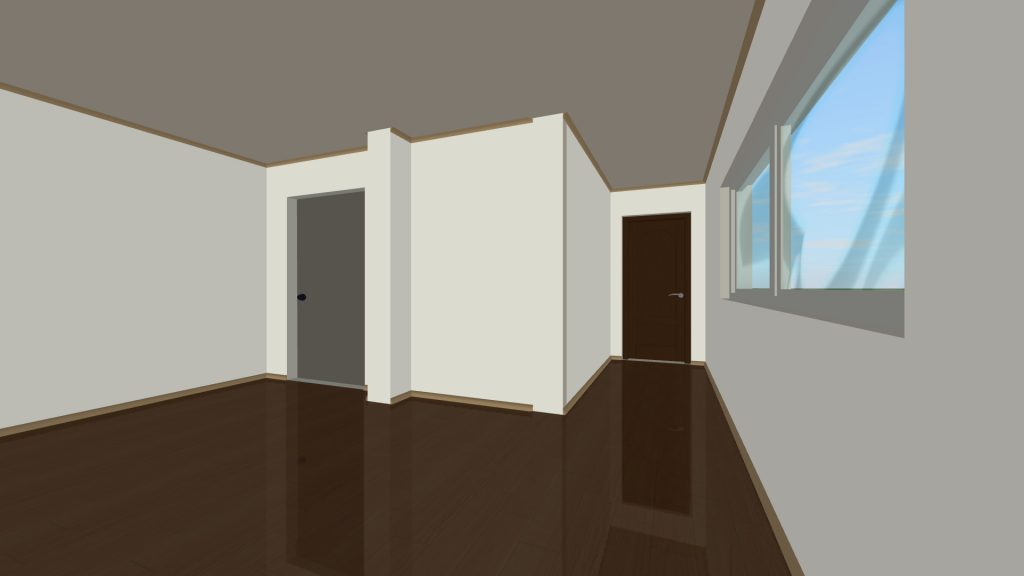 3D Visualisation of property empty flat