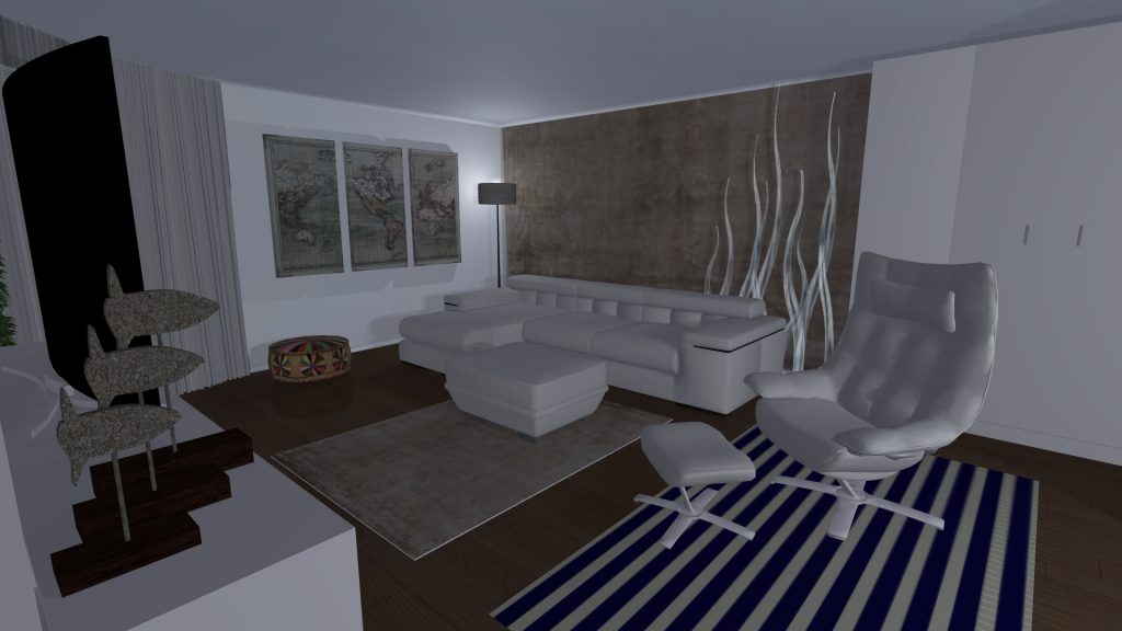3D Visualisation of property livingroom