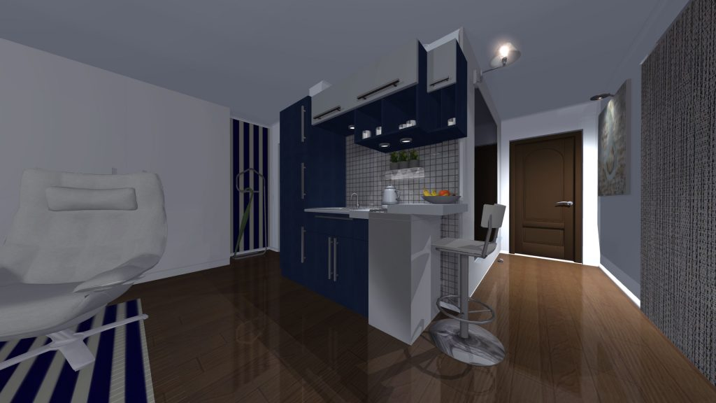 3D Visualisation of property kitchen